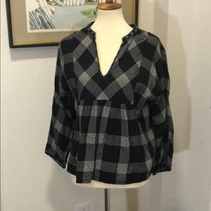 Madewell Black & White Flannel